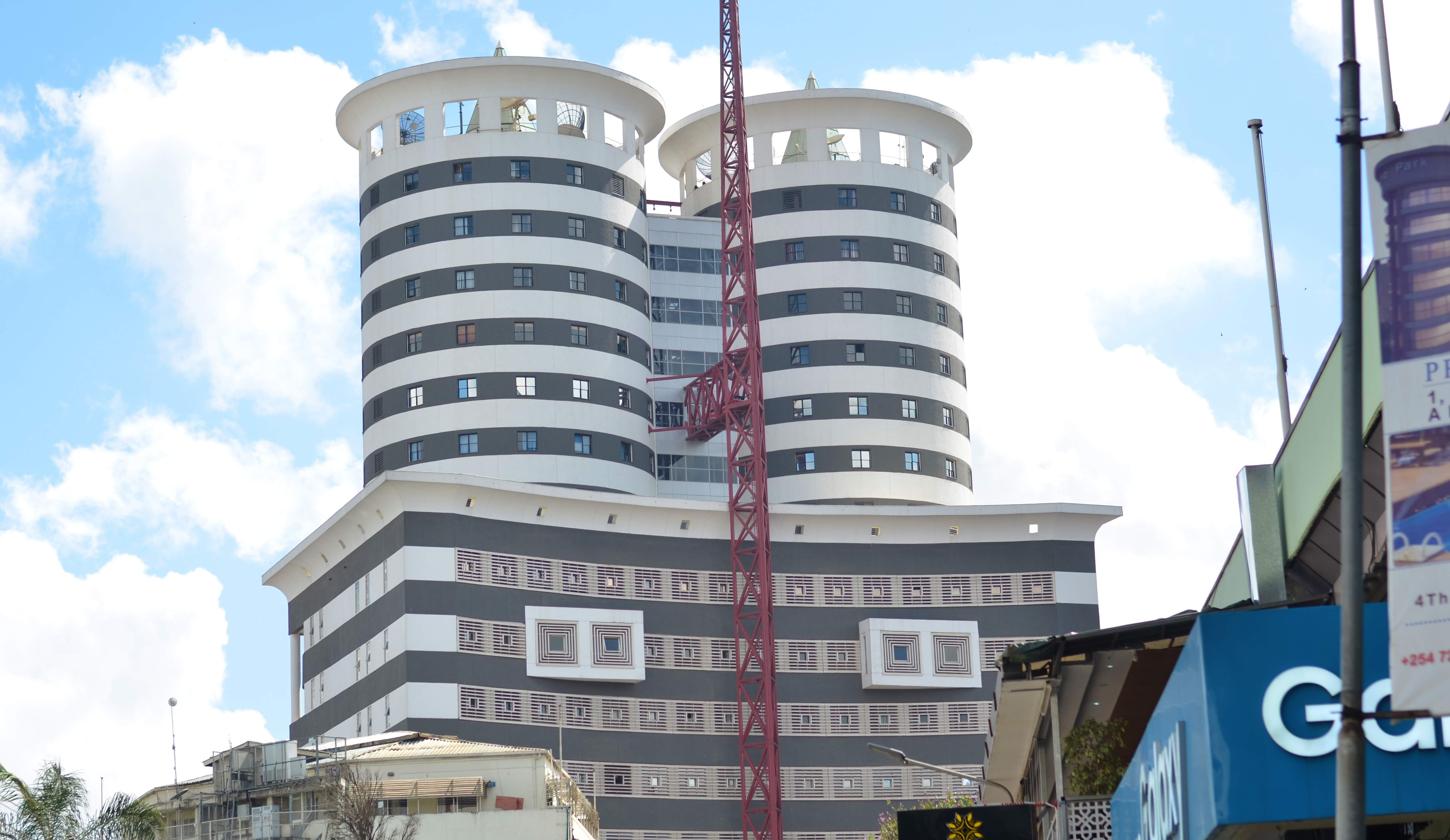 The Nation Centre building in Nairobi's Kimathi Street where the Nation Media Group offices are located. Monday,October 21, 2019