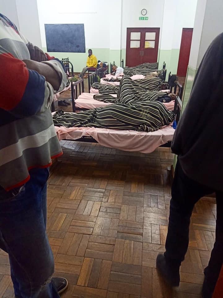 A photo of quarantined Kenyans at the Kenya High School.