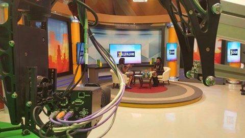 A set at K24 studios in Nairobi