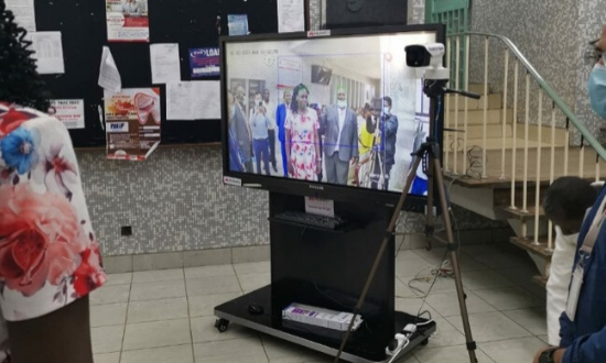 Thermal imaging equipment donated by Huawei to Kenya's Ministry of Transport on March 20, 2020.