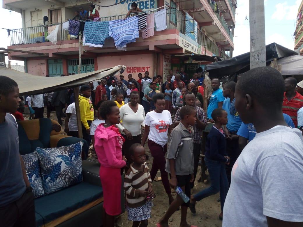 Church faithful in Embakasi dispersing following a police raid on March 22, 2020 |ERIC AMBUCHE