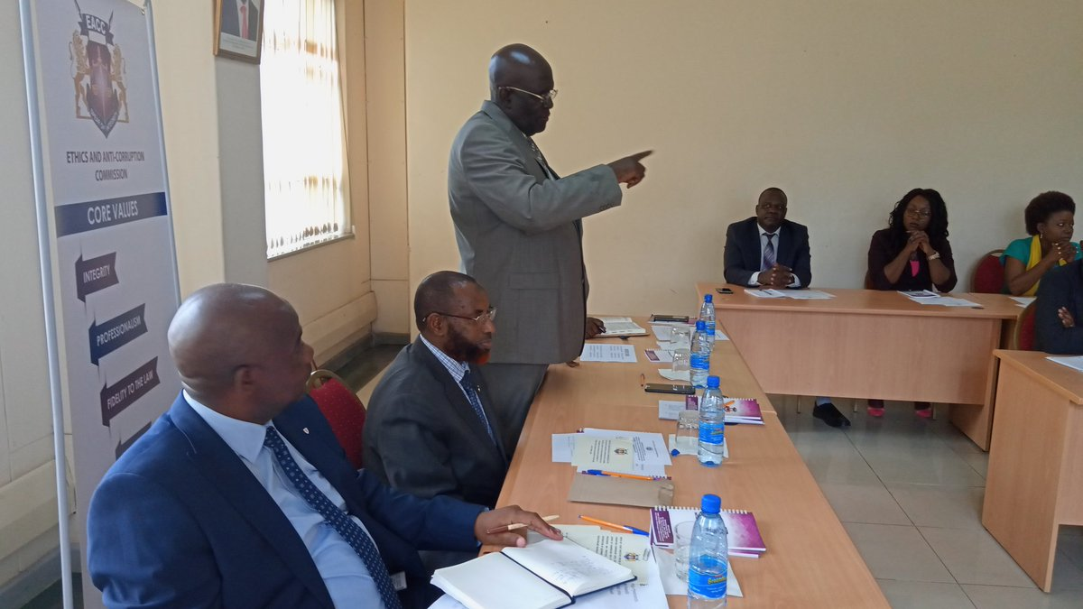 Education Cabinet Secretary George Magoha speaking during the special meeting held by the EACC on March 10, 2020.