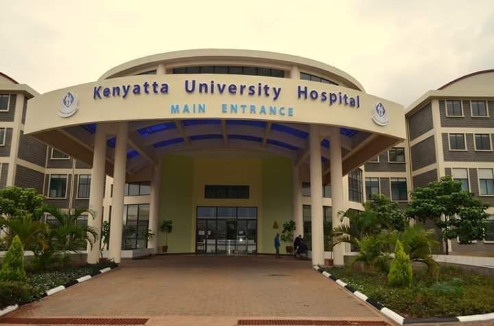 Kenyatta University Referral Hospital main entrance area.