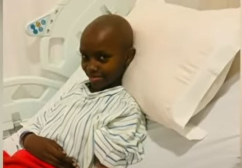 File photo of Lakita Abongo on a hospital bed while she underwent treatment.
