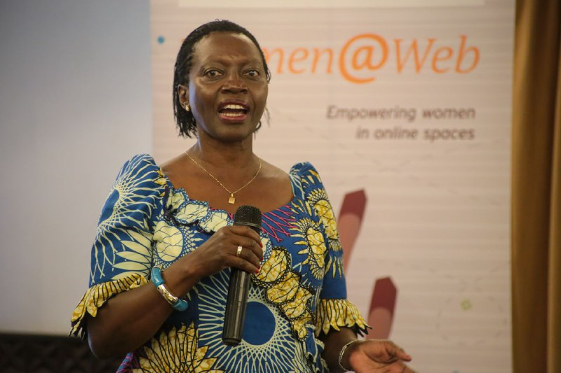 Former Gichugu MP Martha Karua addresses the Women at Web summit in Nairobi on February 25, 2020.