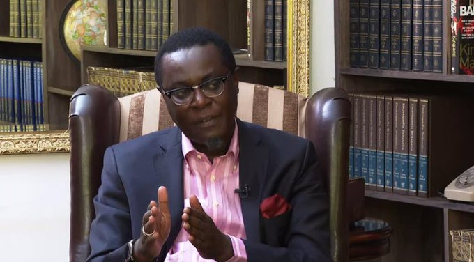 Mutahi Ngunyi speaking during the K24's Punchline show on March 1, 2020.