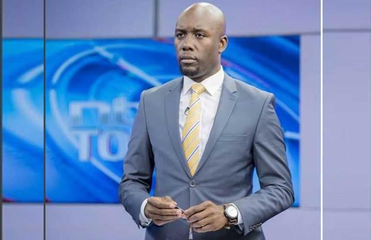 NTV news anchor Dennis Okari at the station's studios