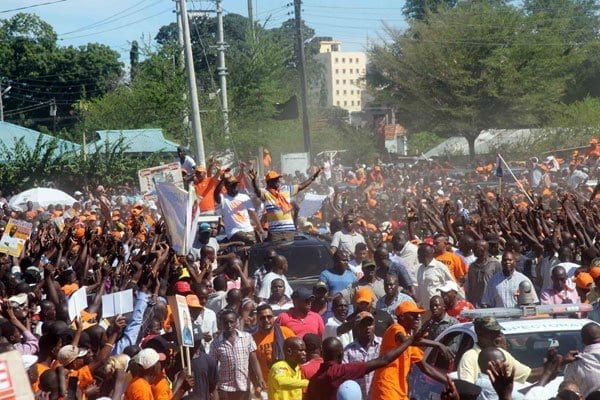 ODM officials at a rally