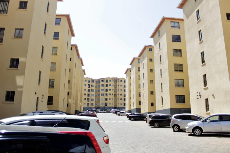 A recent middle-income residential development in Athi River.