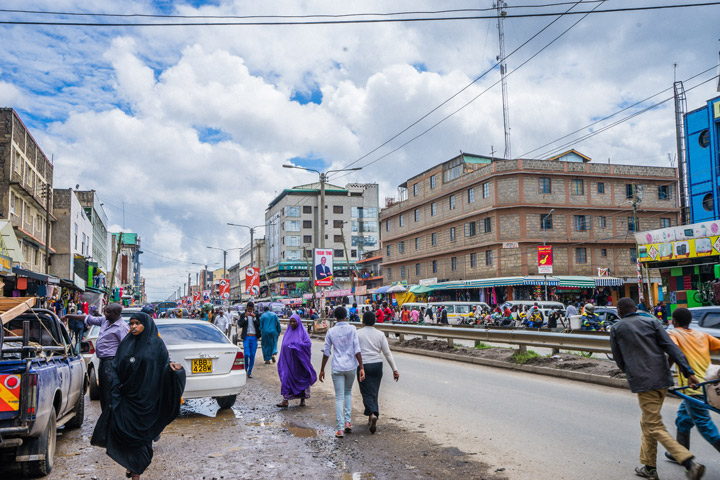 Residents walk in the streets of Eastleigh, Nairobi.