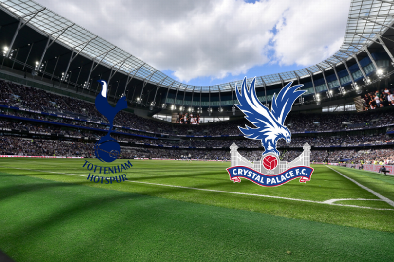A graphic showing Crystal Palace and Tottenham Hotspurs logos ahead of the upcoming match.