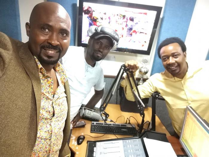 Kamau Kamlesh, Man Nyari and Pastor Godfrey Migwi at the Kameme FM show. Sources previously indicated that the pastor was asked to quit due to his harsh criticism on President Uhuru Kenyatta.