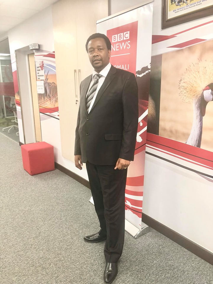 Pastor Godfrey Migwi. He has landed a job at BBC Swahili.