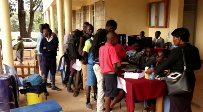 Students being admitted to form one