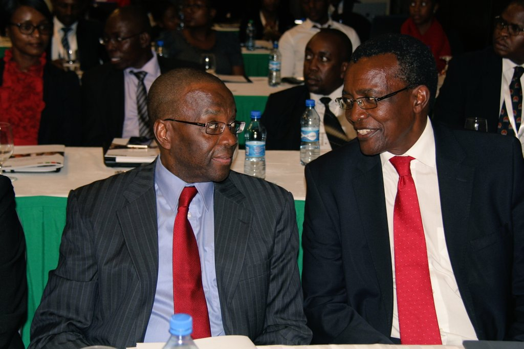 Former Chief Justice Willy Mutunga with Chief Justice David Maraga at past function.