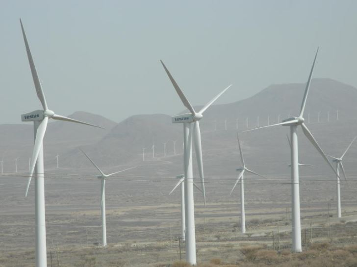 Some of the turbines at Lake Turkana Wind Power farm in Marsabit County.