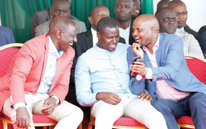 Deputy President William Ruto, Kikuyu MP Kimani Ichungwa and Gatundu South MP Moses Kuria during a past event.