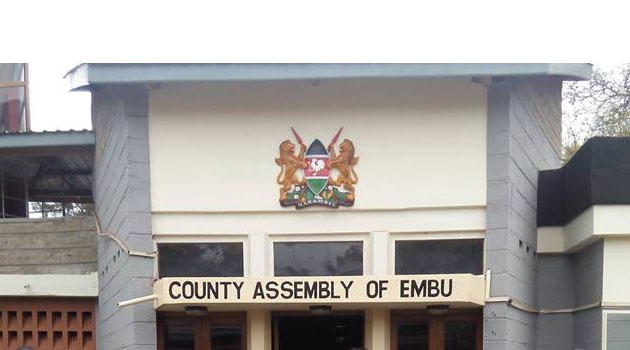 Embu County Assembly whose Majority Whip Judy Mbuya got demotted for berating her colleagues. for misleading nation