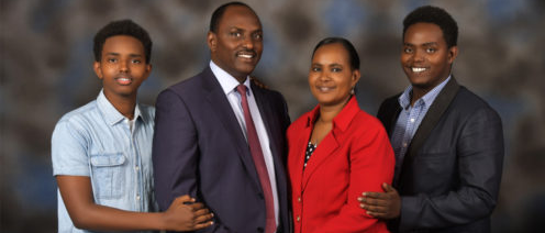 Acting Treasury CS Ukur Yattani, his wife Gumato and their two sons.