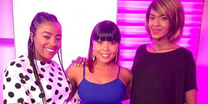Switch TV presenters from left, Jackie Matubia, Kush Tracey and Noni Gathoni. The station on January 6, 2020 announced a major reshuffle.