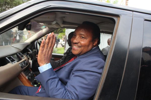 Kiambu Governor Ferdinand Waititu leaves Integrity Centre, the headquarters of the EACC, after questioning on claims of misuse of county funds, May 28, 2019.