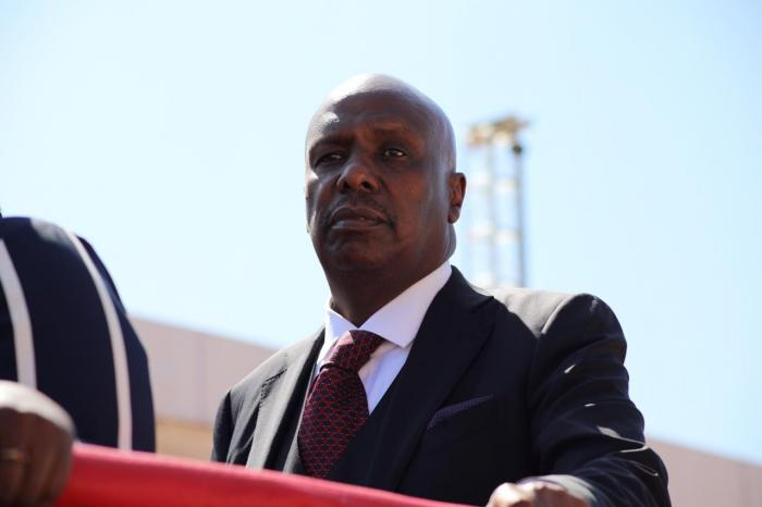 Senator Gideon Moi, whose tribute to the late Mzee was nearly disrupted by a heckler. PHOTO | SIMON KIRAGU | KENYANS.CO.KE