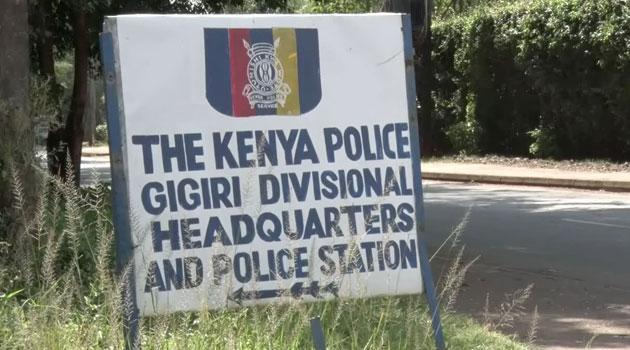 A signpost showing Gigiri Police Station where Cyprian Nyakundi was taken into custody after his arrest on Monday, January 20, 2020.
