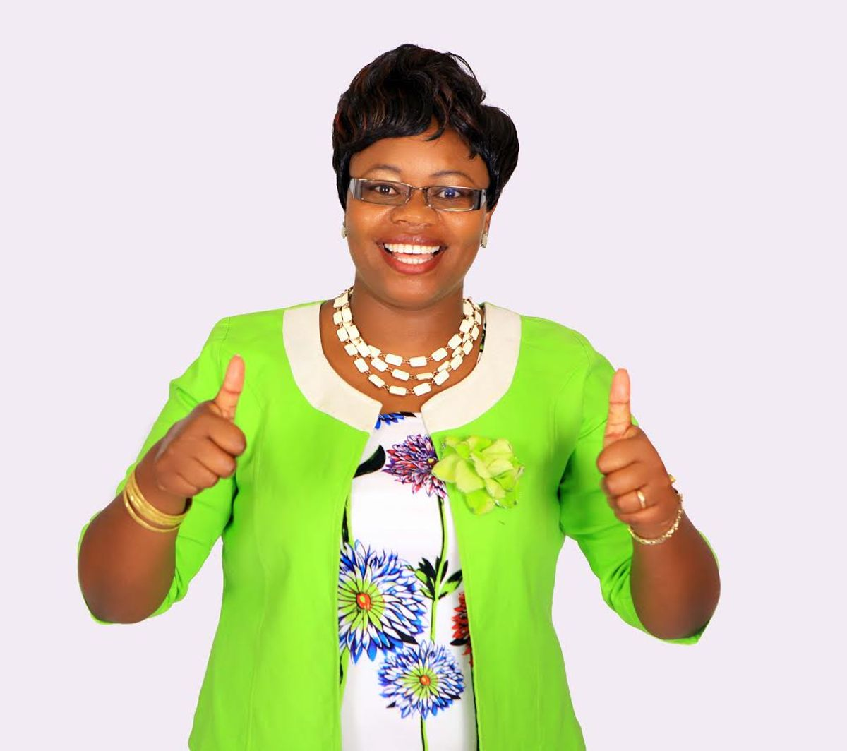 Kiambu woman representative Gathoni wa Muchomba poses for a photo.