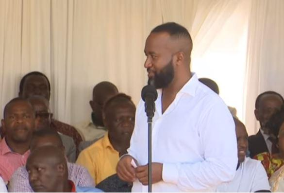 Mombasa Governor Ali Hassan Joho speaking during the opening of Mombasa ASK show on Thursday, September 5.