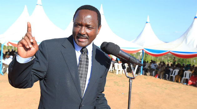 Wiper leader, Kalonzo Musyoka gives an address at a past event.