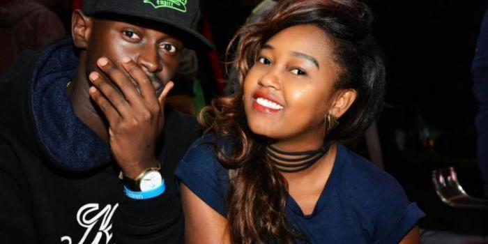 King Kaka and wife Nana Owiti. On Monday, January 13, 2020 the rapper was buoyed up after his wife landed a TV job
