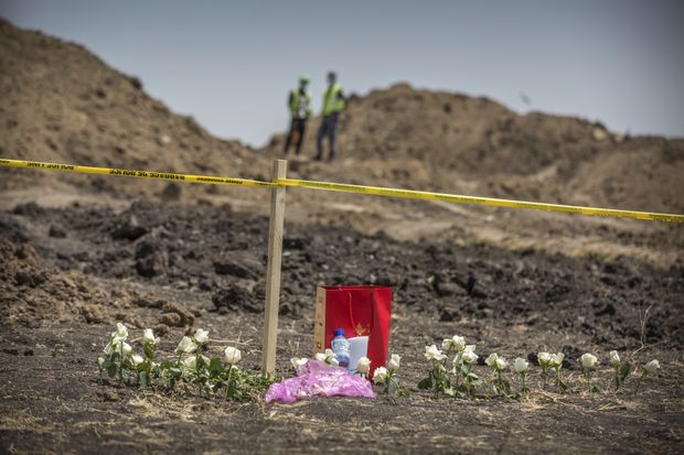 A floral tribute at the crash site
