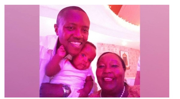 "A photo that Maina Kageni posted on his social media account which raised eyebrows after he captioned it ""three generations."""