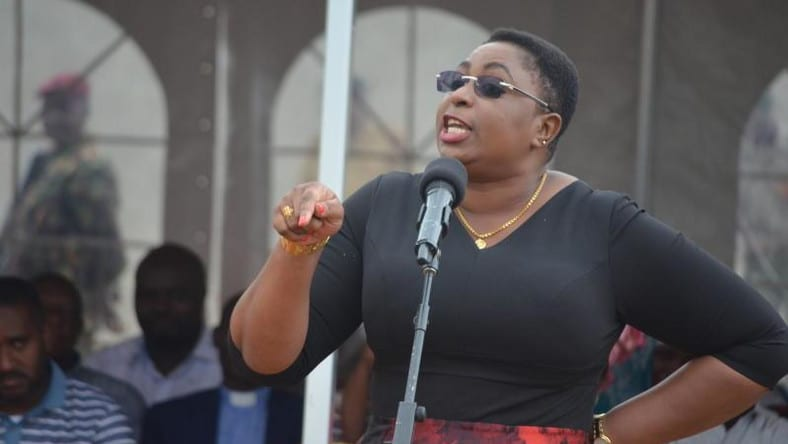 Malindi MP Aisha Jumwa who reportedly stormed ODM campaigns venue where a supporter