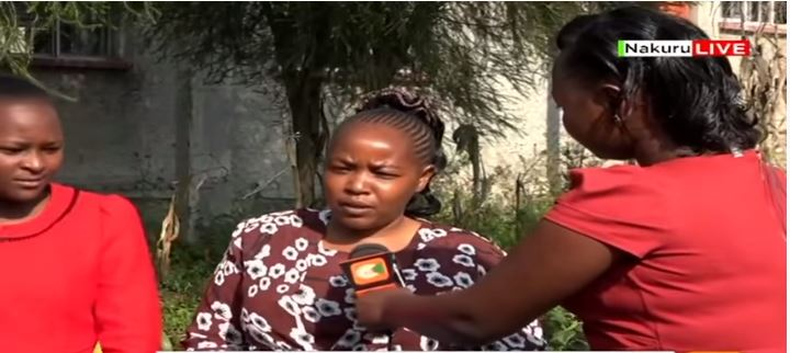 Citizen TV reporter Maryanne Nyambura interviews Esther Kaari's mother on Tuesday, January 14.