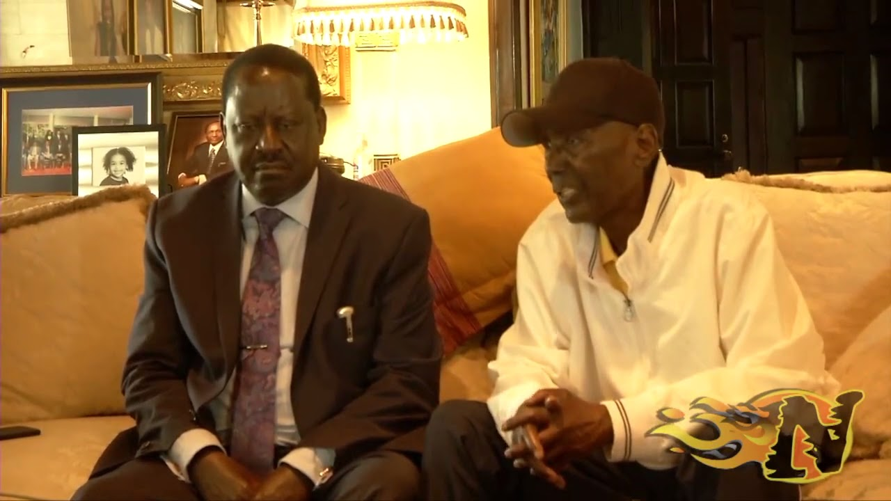 Raila Odinga (left) when he visited Chris Kirubi while he was receiving treatment in the US in May 2018.