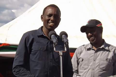Deputy President William Ruto and his son Nick Kipkurgat Ruto. In a church fundraising on Sunday, Nick made a personal contribution of Ksh 250,000