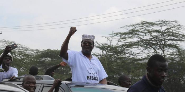 Miguna Miguna pictured on his way to JKIA in November 2017