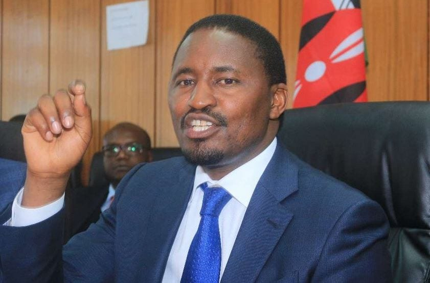 Outgoing Agriculture CS Mwangi Kiunjuri (pictured) who was replaced by