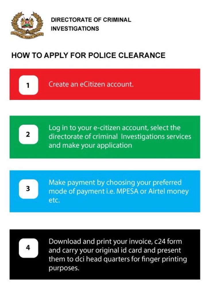 Government Speeds Up Police Clearance Certificate