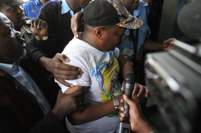 Nairobi Governor Mike Sonko during his arrest on Friday, December 6, 2019.