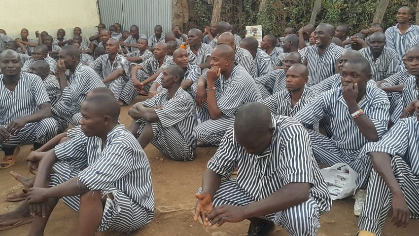 5000 petty offenders were released from Eldoret GK Prison on May 9, 2018.