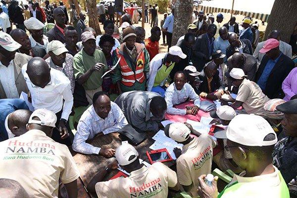 Image result for Huduma Namba clerks protesting