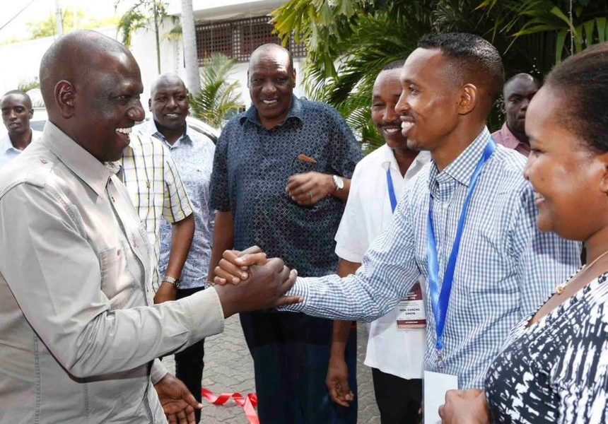 DP Ruto with Nyali MP Mohammed Ali. The former investigative journalist is now one of his key pointmen at the coast.