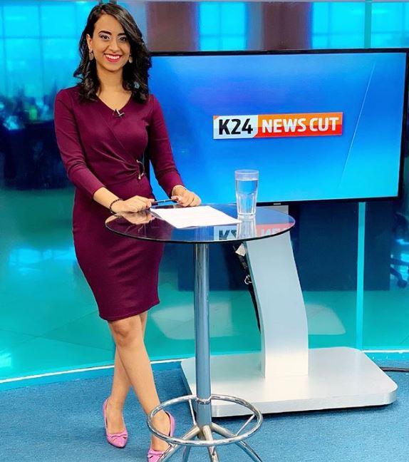 K24 news anchor Shiksha Arora.
