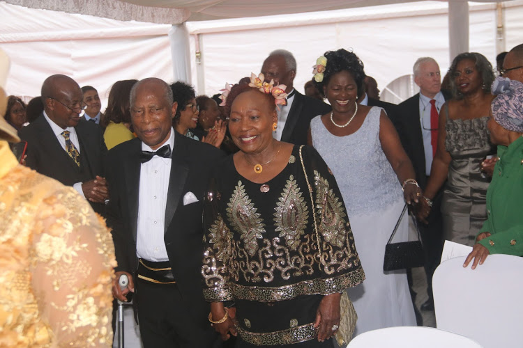 Beth Mugo and her husband Nicholas Mugo