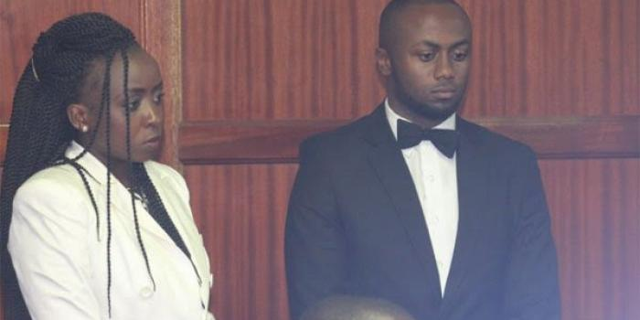 Citizen TV journalist Jacque Maribe and her fiancee Joseph Irungu during a murder trail at the Milimani law courts on 25/6/18