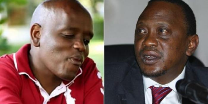 Digital strategist Dennis Itumbi and President Uhuru Kenyatta. Itumbi was chased away from Uhuru's Bomas BBI launch on Wednesday, November 27, 2019.