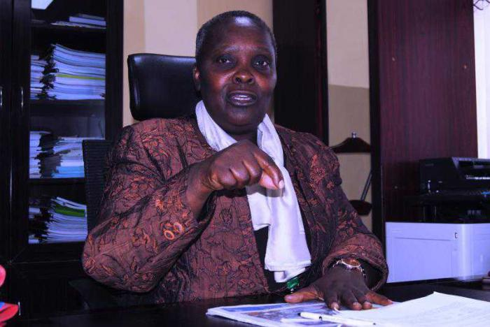Maasai Mara University VC Mary Walingo in her office. She is accused of embezzling more than Ksh190 million from the institution.