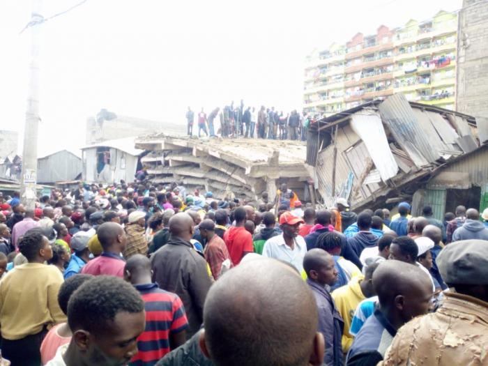 Resident at the scene where a six-storey building collapsed in Tasia on Friday, December 6, 2019.